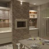 sala de jantar e churrasqueira.